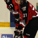 Bryce Milson and Charles-David Beaudoin of the Drummondville Voltigeurs.