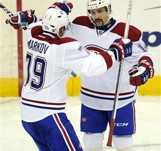 Andrei Markov is the 2012-13 Montreal Canadiens candidate for the Bill Masterton Trophy