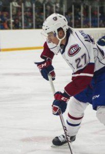 Sven Andrighetto drew even with Louis Leblanc and Nick Tarnasky for the team lead with his 5th goal of the season in the blowout loss.