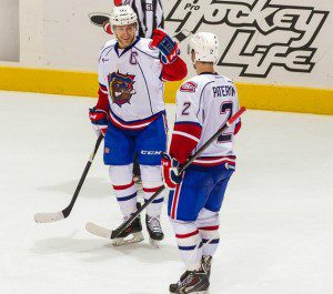 Greg Pateryn's powerplay marker gave Hamilton an early end, but the home team couldn't keep up the rest of the way. (PHOTO: HAMILTON BULLDOGS)
