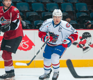 There's nothing wrong with a powerplay specialist that leads your team in scoring, but the Bulldogs had greater hopes when signing St. Pierre. (PHOTO: BRANDON TAYLOR, via HAMILTON BULLDOGS)