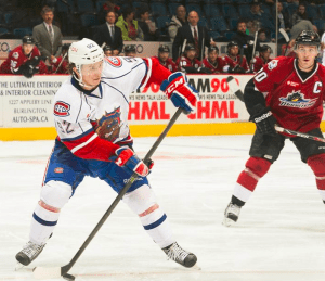 Thomas joins the Canadiens with goals in his past two AHL games. (PHOTO: BRANDON TAYLOR, via HAMILTON BULLDOGS)