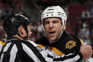 Mike Weaver Gets Under Skin of Bruins Milan Lucic [VIDEO]