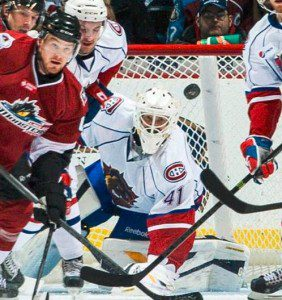 Devan Dubnyk held Hamilton in the game early on, but the goal support failed him. (PHOTO: Hamilton Bulldogs)