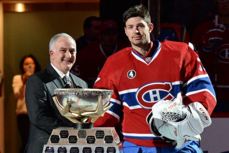 Carey Price Named Molson Cup Recipient for December