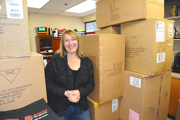 Williams Lake Minor Hockey Association office administrator Pam Povelofskie (Photo by Angie Mindus)