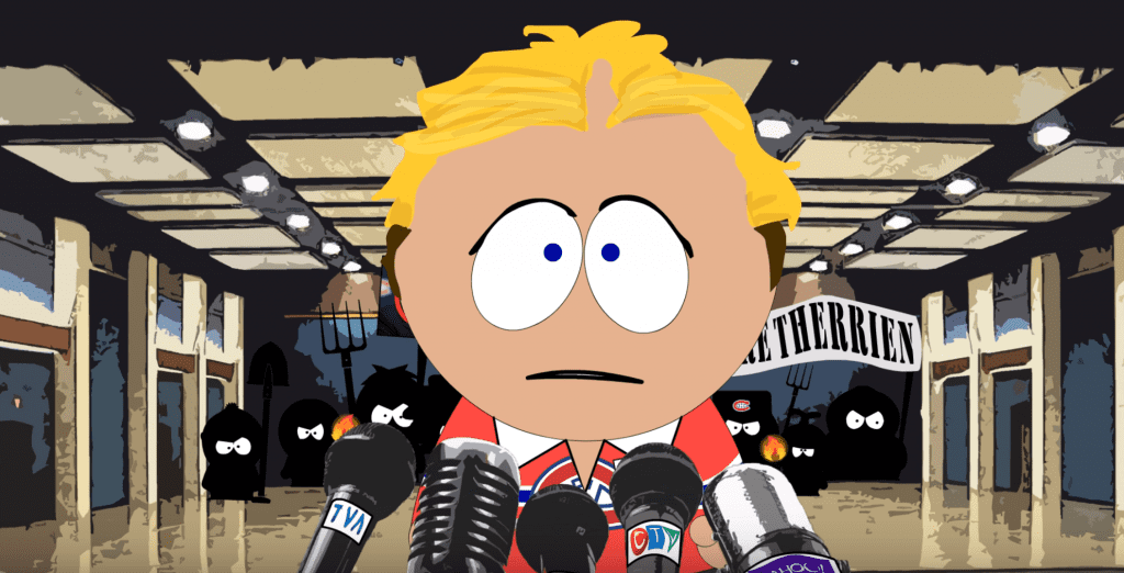 South Park Habs coach Michel Therrien s post game scrum. YouTube
