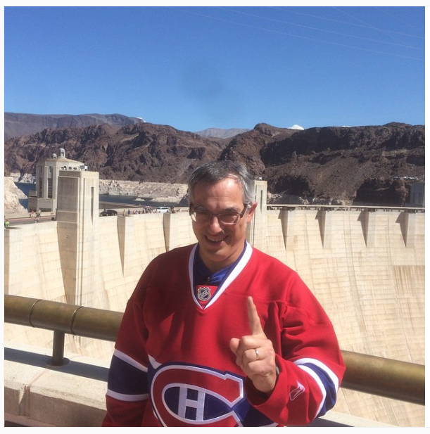 Clement at the Hoover Dam (Photo courtesy instagram.com/tonyclementcpc)